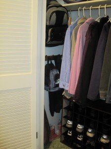 fall decluttering in your entry closet