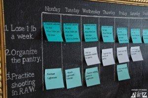 Resolution: get organized