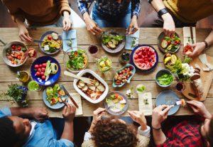 Make a menu for organized food prep