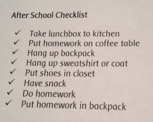 organizing for kids, checklists for kids, teach kids to organize
