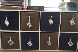 Labeled Craft Bins