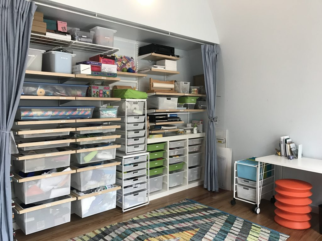 home organizing: spaceWise craft room with Elfa shelving