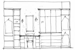 spaceWise pre-model closet sketch